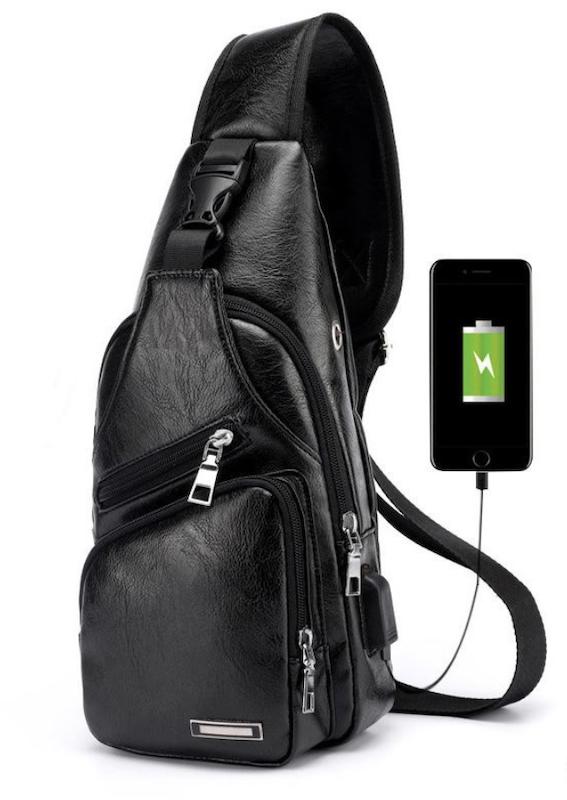 [65k]_Túi da đeo chéo có dây USB flashsale trênShopee